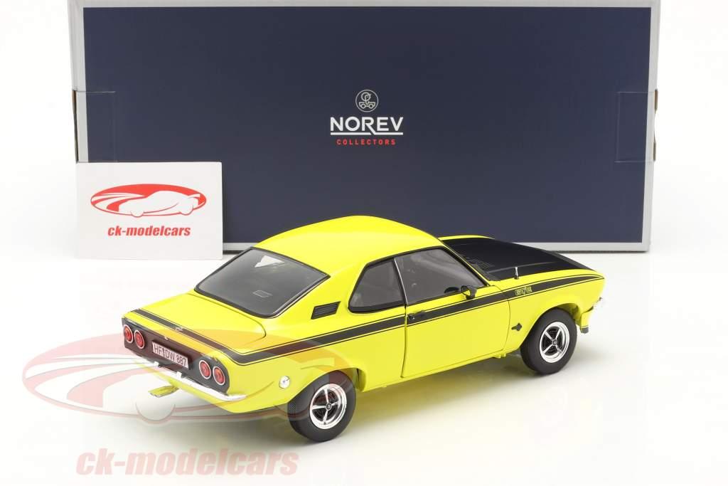 Opel Manta GT/E year 1975 yellow / black 1:18 Norev