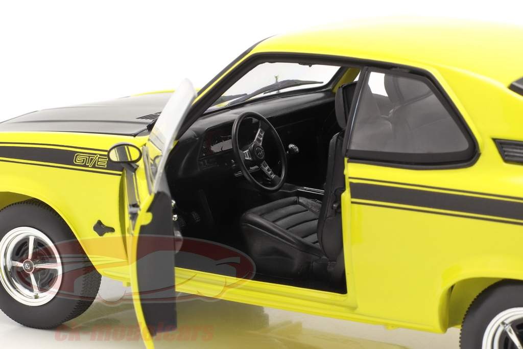 Opel Manta GT/E Año de construcción 1975 amarillo / negro 1:18 Norev