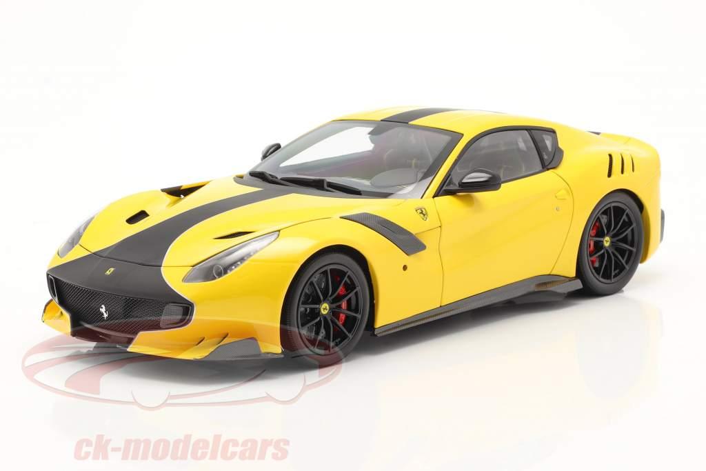 Ferrari F12 TDF Année de construction 2015 modena jaune / noir 1:18 BBR
