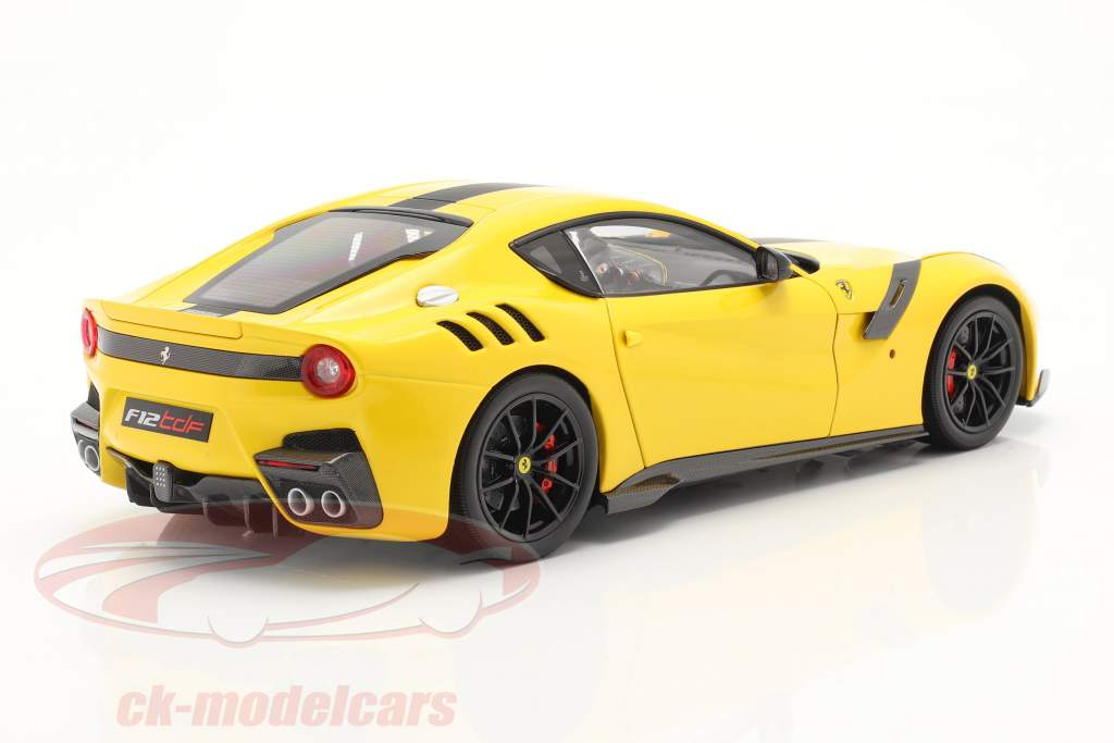 Ferrari F12 TDF year 2015 modena yellow / black 1:18 BBR