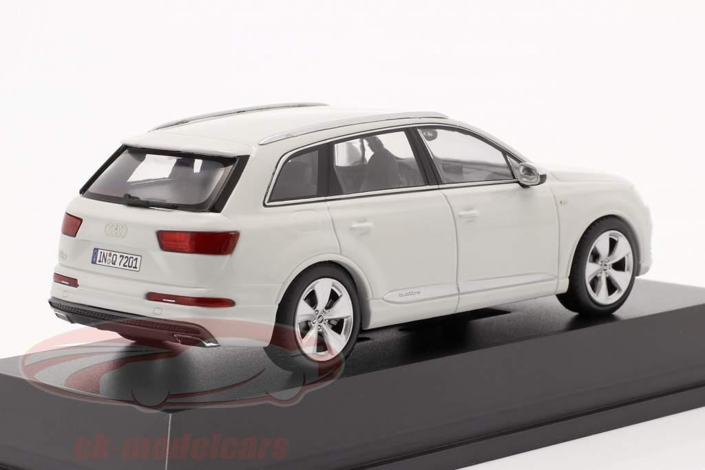 Audi Q7 Année 2015 glacier blanc 1:43 Spark