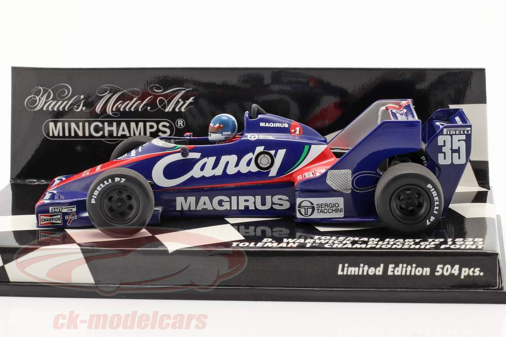 Derek Warwick Toleman TG183B #35 Netherlands GP formula 1 1983 1:43 Minichamps