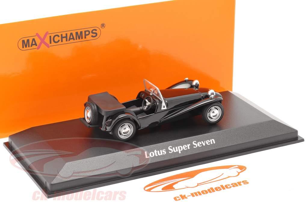 Lotus Super Seven 1968 zwart 1:43 Minichamps