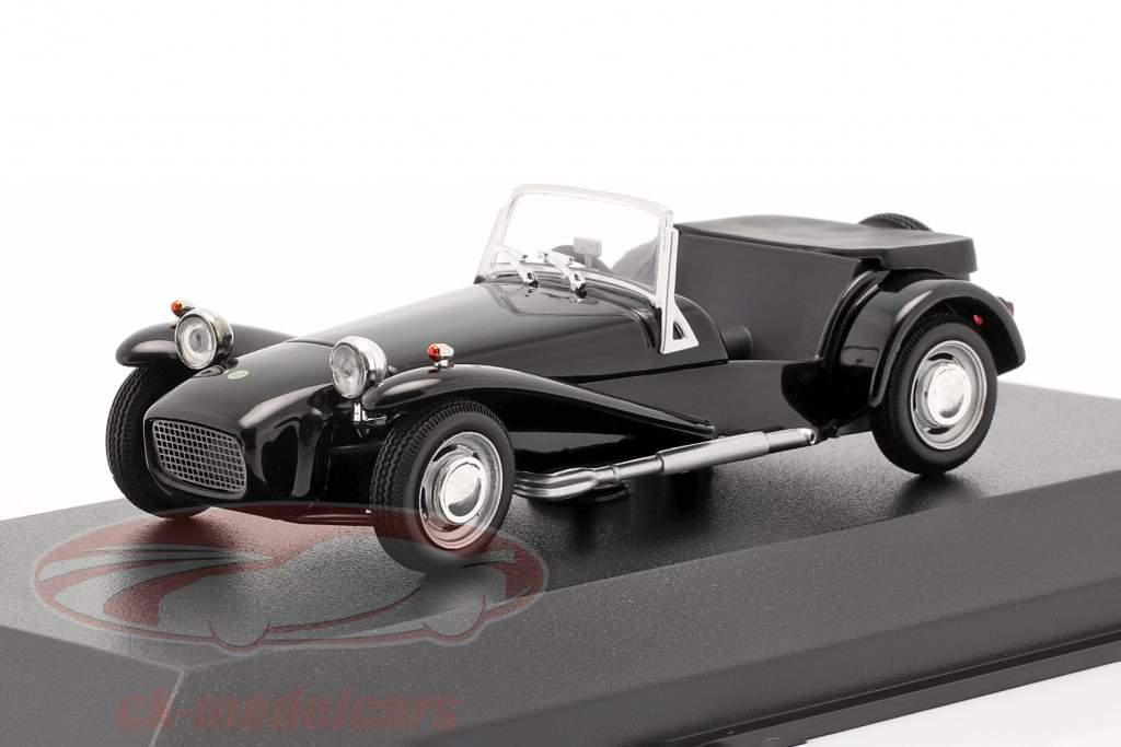 Lotus Super Seven 1968 preto 1:43 Minichamps