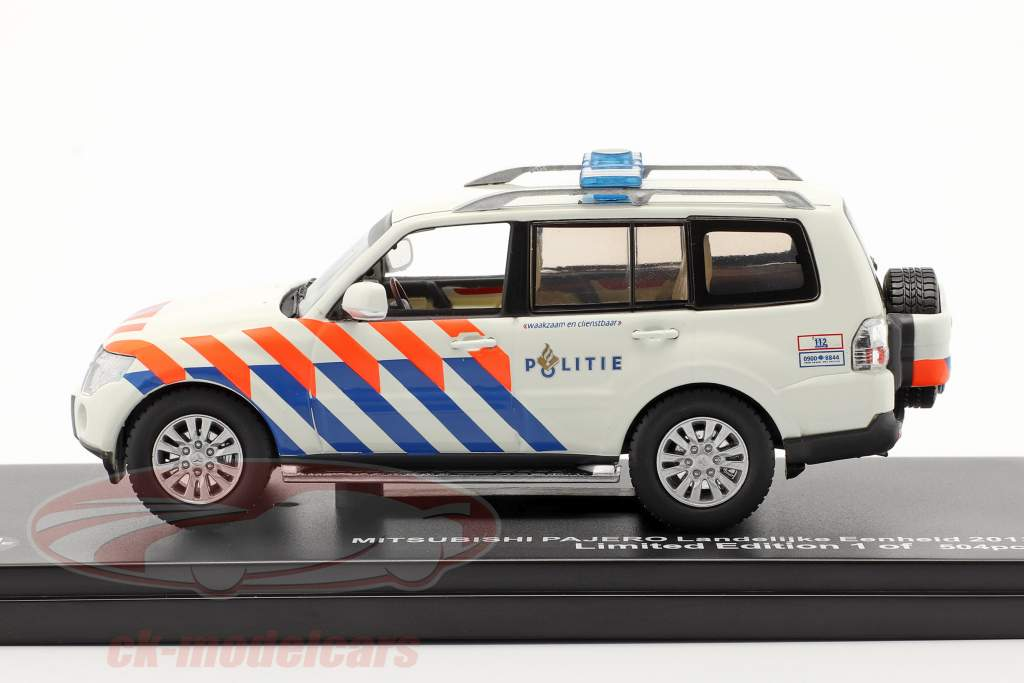 Mitsubishi Pajero Politie Países Bajos 2013 blanco / naranja / azul 1:43 Triple 9
