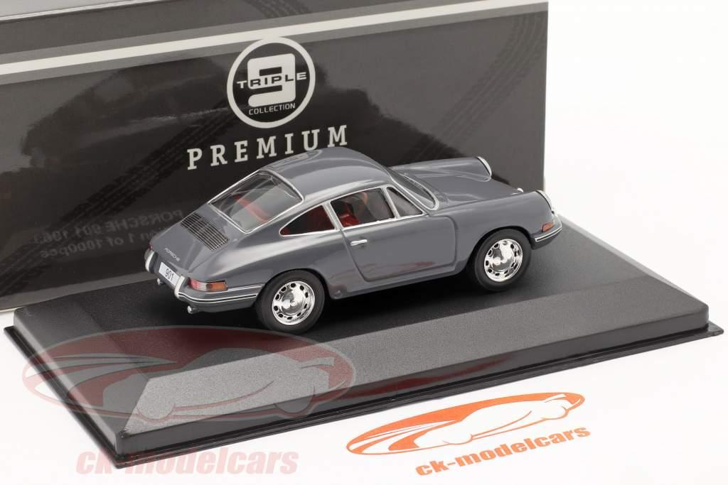 Porsche 901 Baujahr 1963 blaugrau 1:43 Triple9