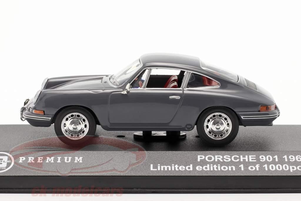 Porsche 901 År 1963 bluegray 1:43 Triple9
