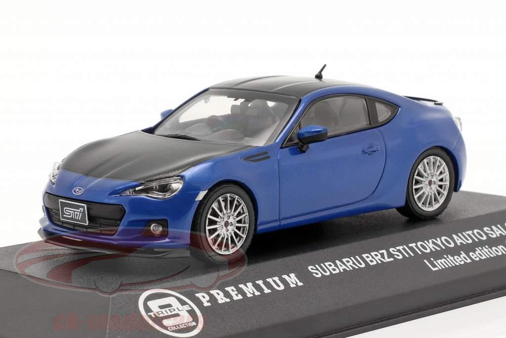 Subaru BRZ STI Tokyo Auto Show 2012 blue / carboxylic 1:43 Triple 9