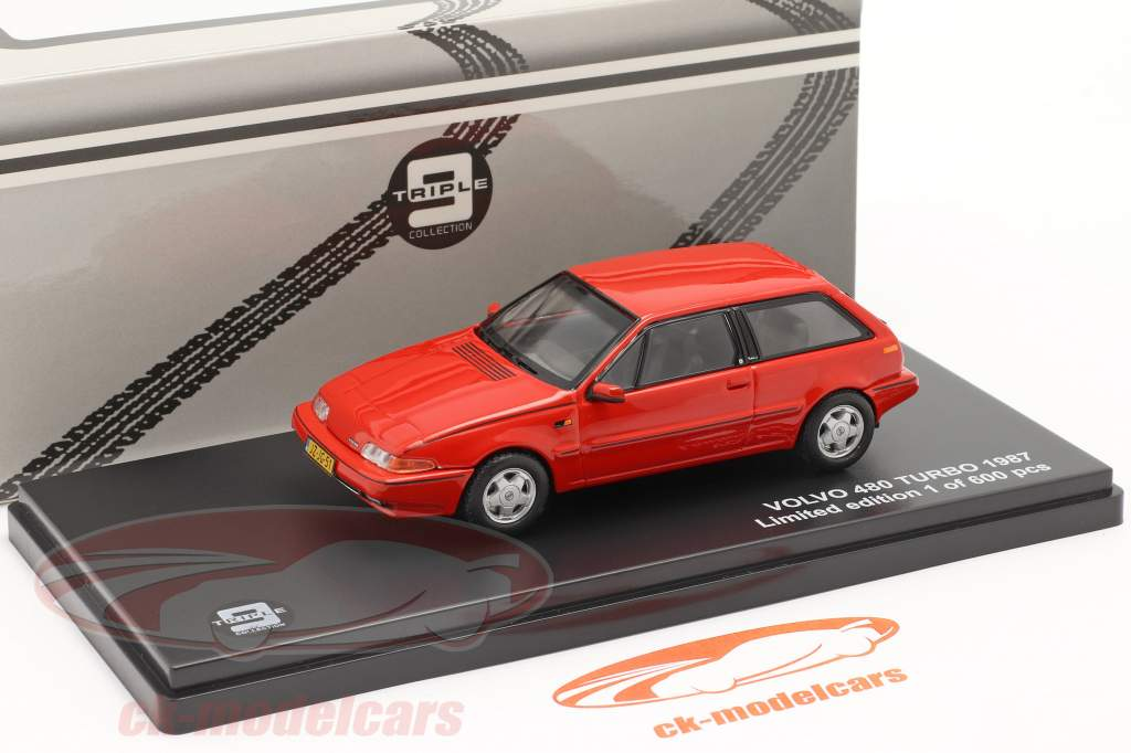 Volvo 480 Turbo Année 1987 rouge 1:43 Triple 9