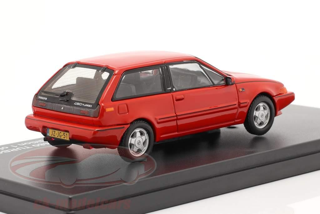 Volvo 480 Turbo Jaar 1987 rood 1:43 Triple 9