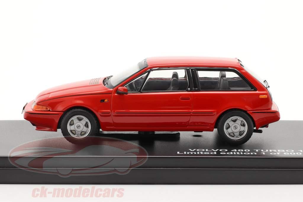 Volvo 480 Turbo ano 1987 vermelho 1:43 Triple 9