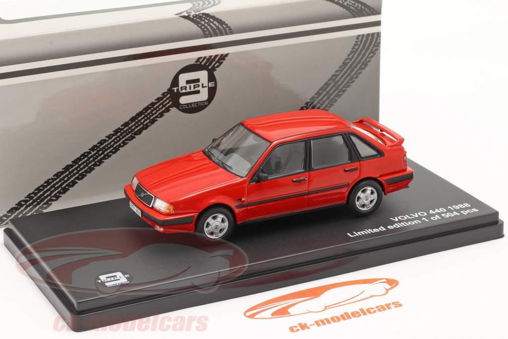 Volvo 440 Turbo Baujahr 1988 rot 1:43 Triple9