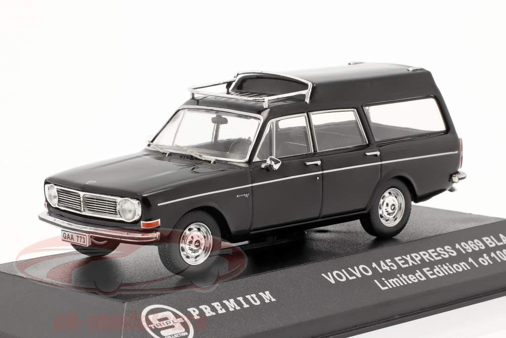 Volvo 145 Express Baujahr 1969 schwarz 1:43 Triple9