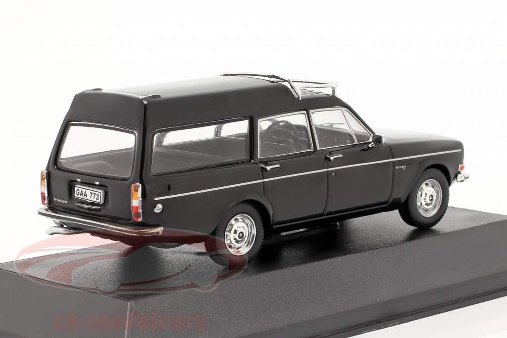 Volvo 145 Express jaar 1969 zwart 1:43 Triple9