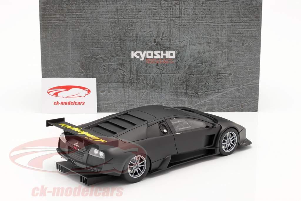 Lamborghini Murcielago R-GT Baujahr 2007 mattschwarz 1:18 Kyosho