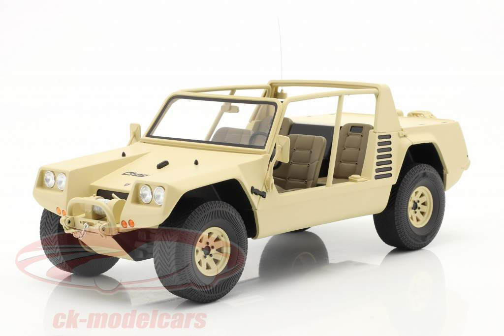 Lamborghini Cheetah Byggeår 1977 khaki 1:18 Kyosho