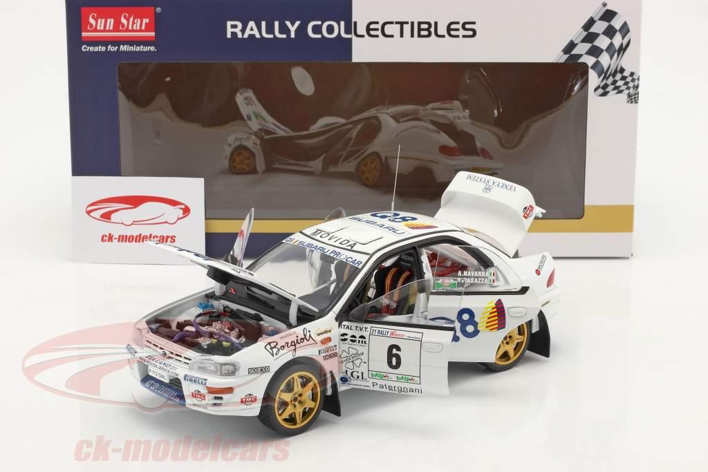 Subaru Impreza 555 #6 Ganador Rallye del Ciocco 1998 1:18 SunStar