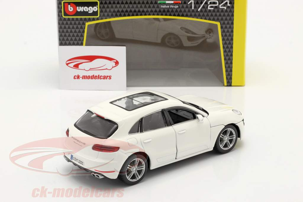 Porsche Macan Año de construcción 2014 blanco 1:24 Bburago