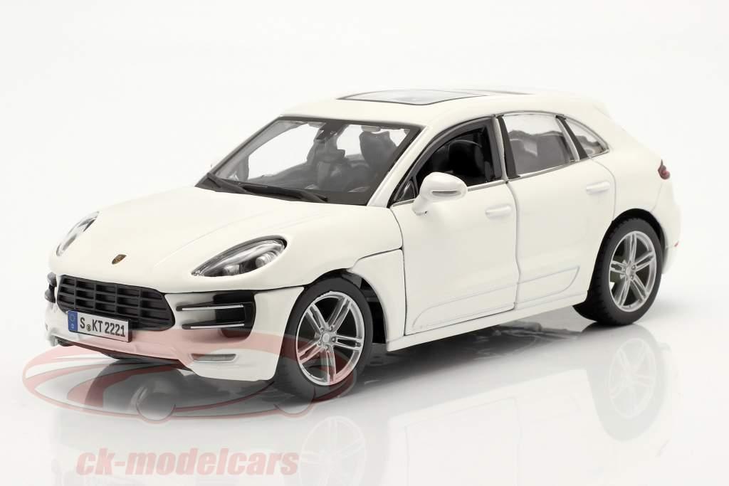 Porsche Macan Bouwjaar 2014 Wit 1:24 Bburago