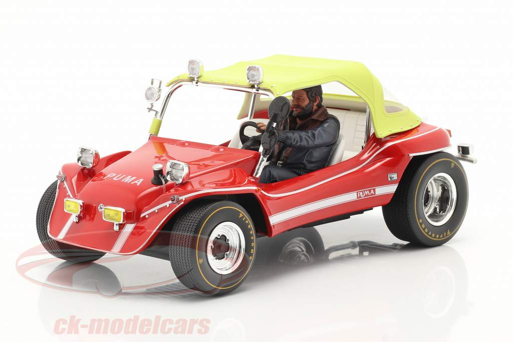 Puma Dune Buggy 1972 with figure Bud Spencer 1:18 Infinite Statue
