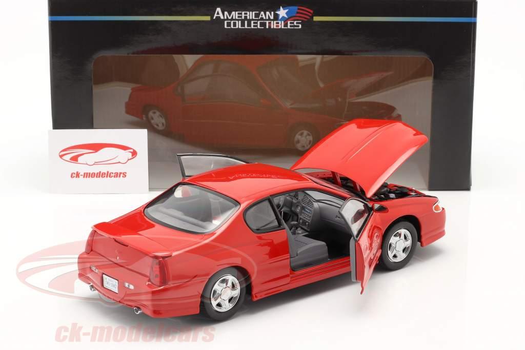 Chevrolet Monte Carlo SS año 2000 rojo 1:18 SunStar