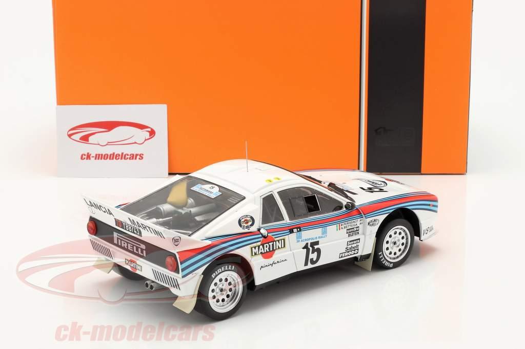 Lancia 037 Rally #15 5 ° Rallye acropoli 1983 Bettega, Perissinot 1:18 Ixo
