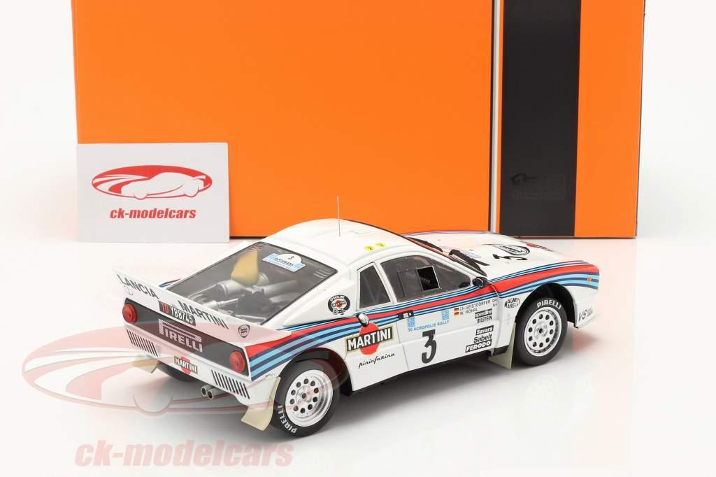 Lancia 037 Rally #3 vincitore Rallye acropoli 1983 Röhrl, Geistdörfer 1:18 Ixo