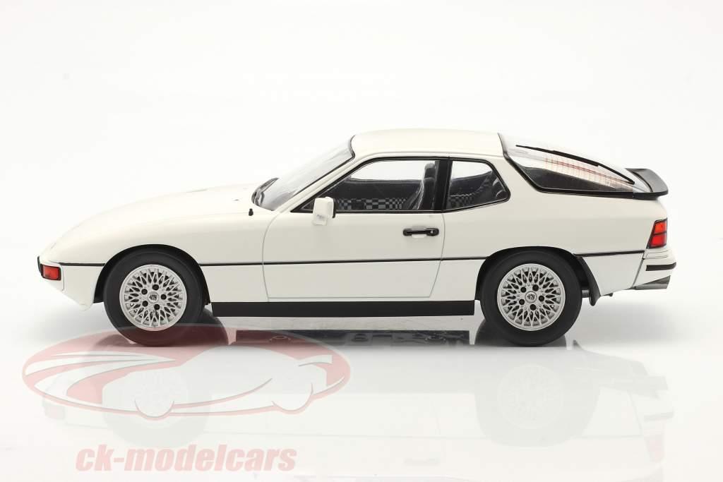 Porsche 924 Turbo Byggeår 1979 hvid 1:18 Model Car Group