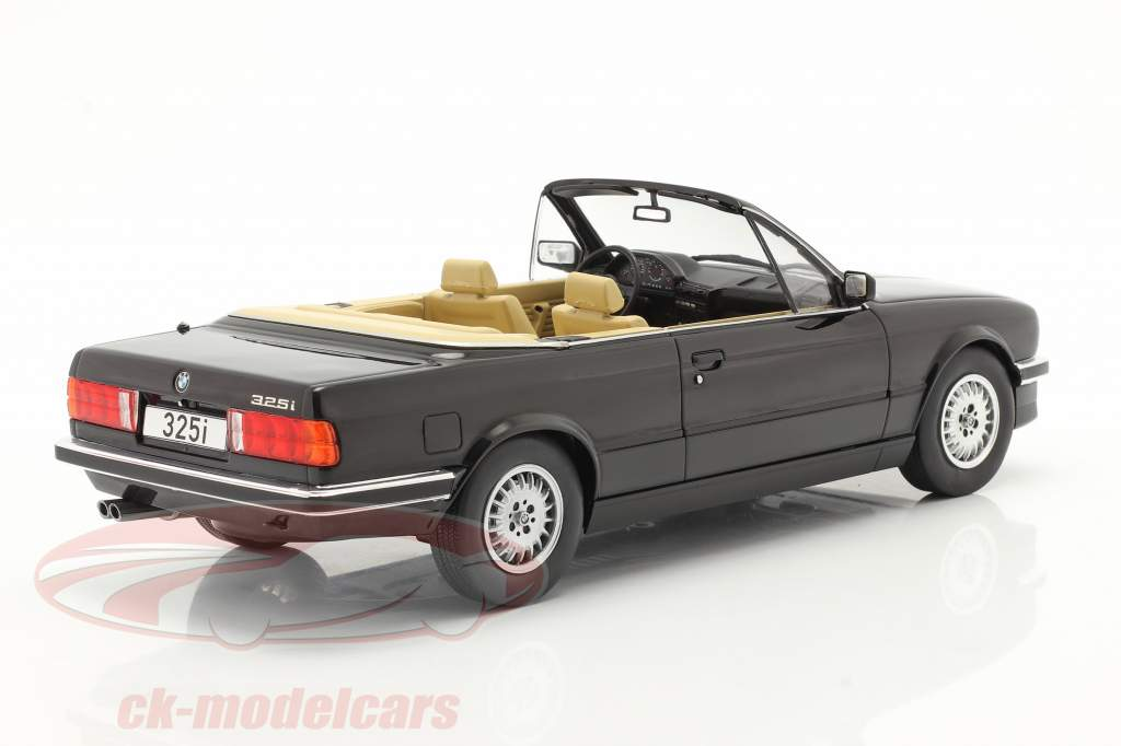 BMW 3 Serie 325i (E30) Cabriolet Bouwjaar 1985 zwart 1:18 Model Car Group
