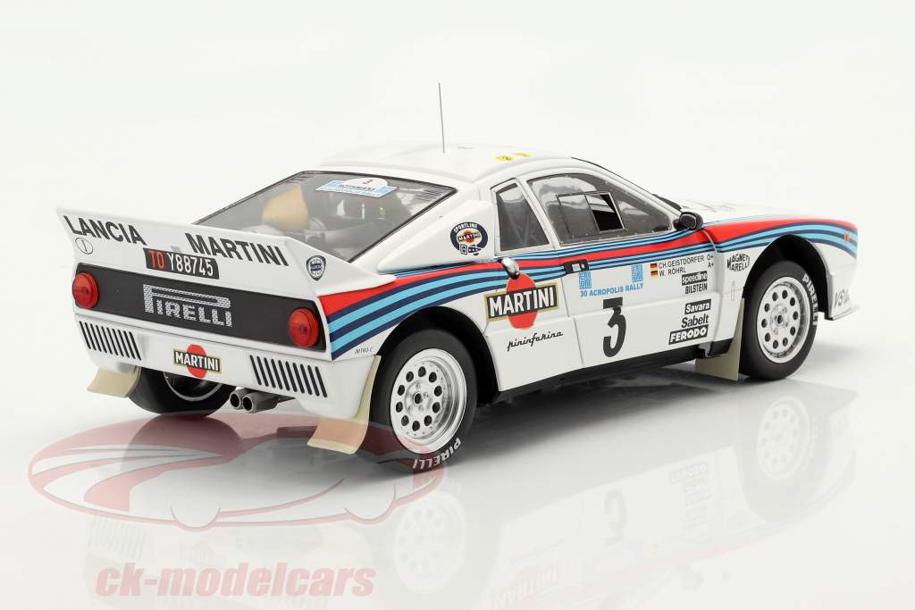 Lancia 037 Rally #3 vinder Rallye Akropolis 1983 Röhrl, Geistdörfer 1:18 Ixo