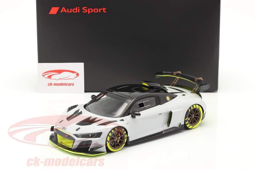 Audi R8 LMS GT2 Presentation Car 2020 grise / noir / jaune 1:18 Spark