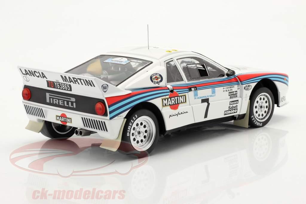 Lancia 037 Rally #7 2 ° Rallye acropoli 1983 Alen, Kivimäki 1:18 Ixo