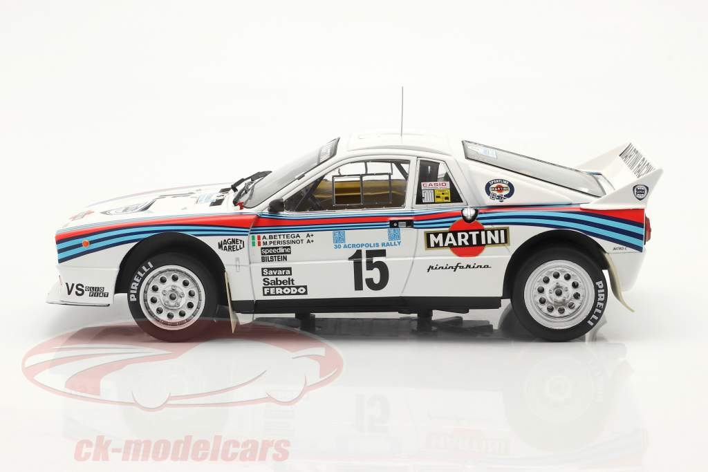Lancia 037 Rally #15 5. plads Rallye Akropolis 1983 Bettega, Perissinot 1:18 Ixo