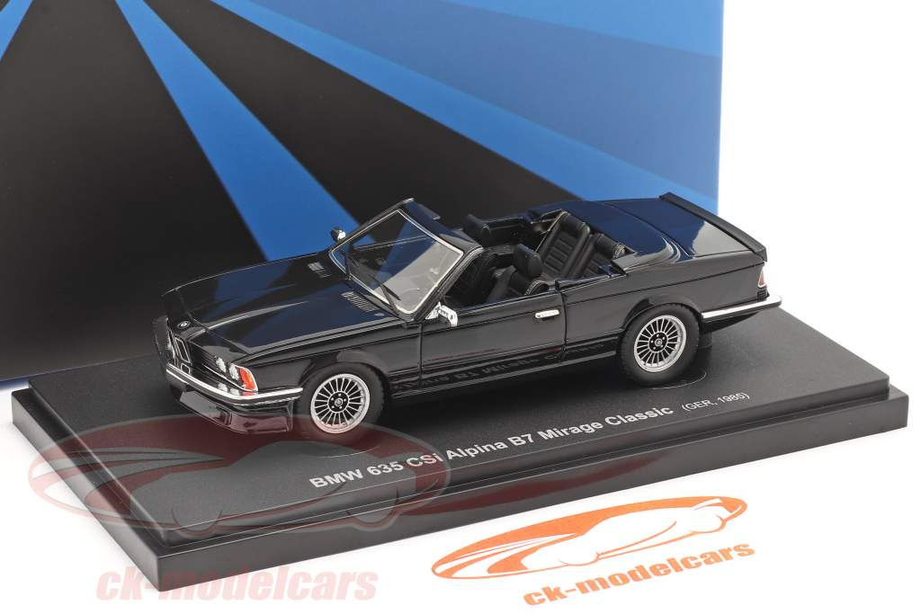 BMW 635 CSi Alpina B7 Mirage Classic 1985 noir 1:43 AutoCult