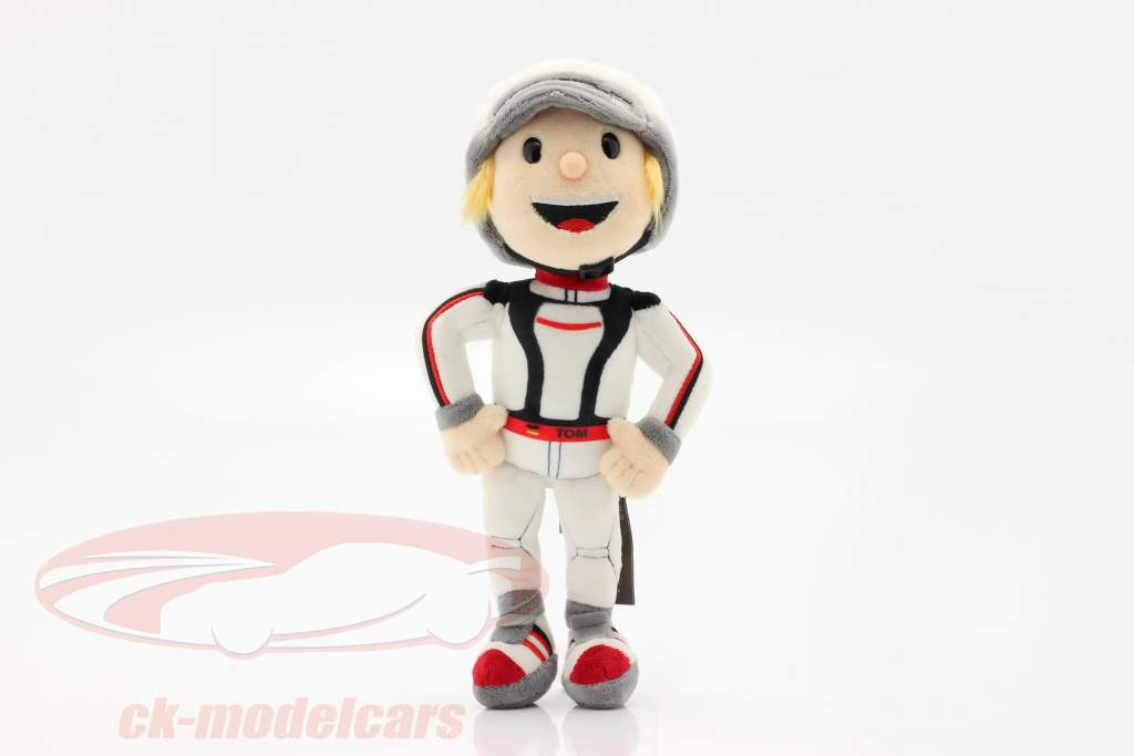 Porsche Figura de peluche Tom Targa 30 cm blanco / negro / rojo