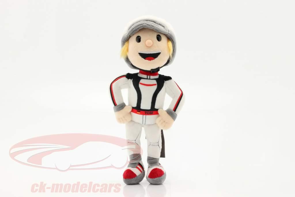 Porsche Plysfigur Tom Targa 30 cm hvid / sort / rød