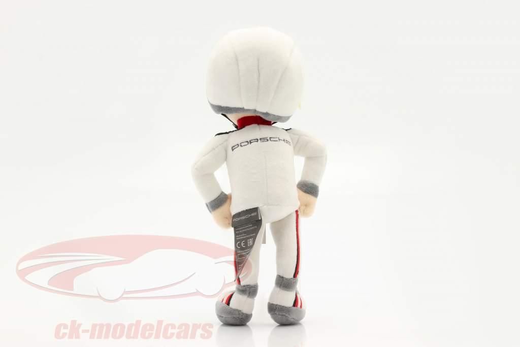 Porsche Figurine en peluche Tom Targa 30 cm blanc / noir / rouge