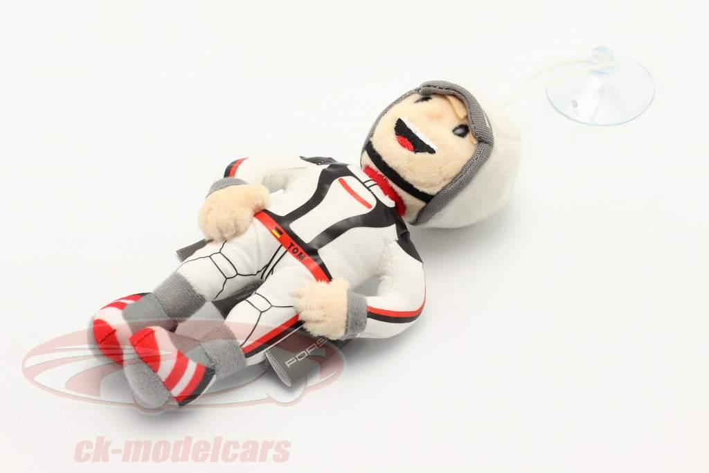 Porsche Figurine en peluche Tom Targa 16 cm blanc / noir / rouge