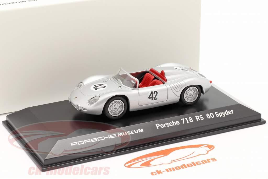 Porsche 718 RS 60 Spyder #42 gagnant 12h Sebring 1960 Herrmann, Gendebien 1:43 Welly