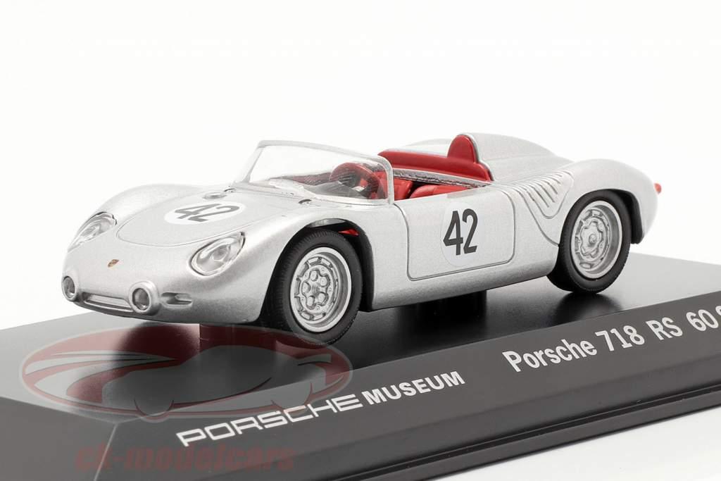 Porsche 718 RS 60 Spyder #42 Vinder 12h Sebring 1960 Herrmann, Gendebien 1:43 Welly