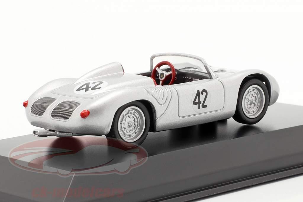 Porsche 718 RS 60 Spyder #42 ganador 12h Sebring 1960 Herrmann, Gendebien 1:43 Welly