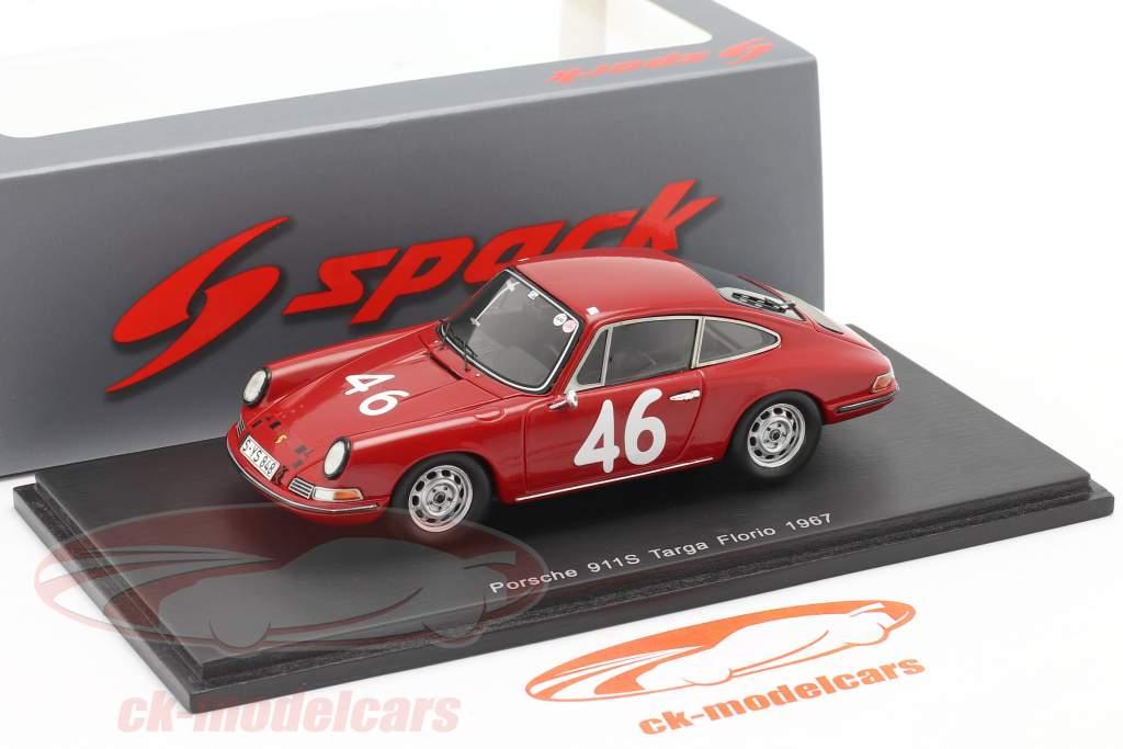 Porsche 911 S #46 Targa Florio 1967 Cahier, Killy 1:43 Spark