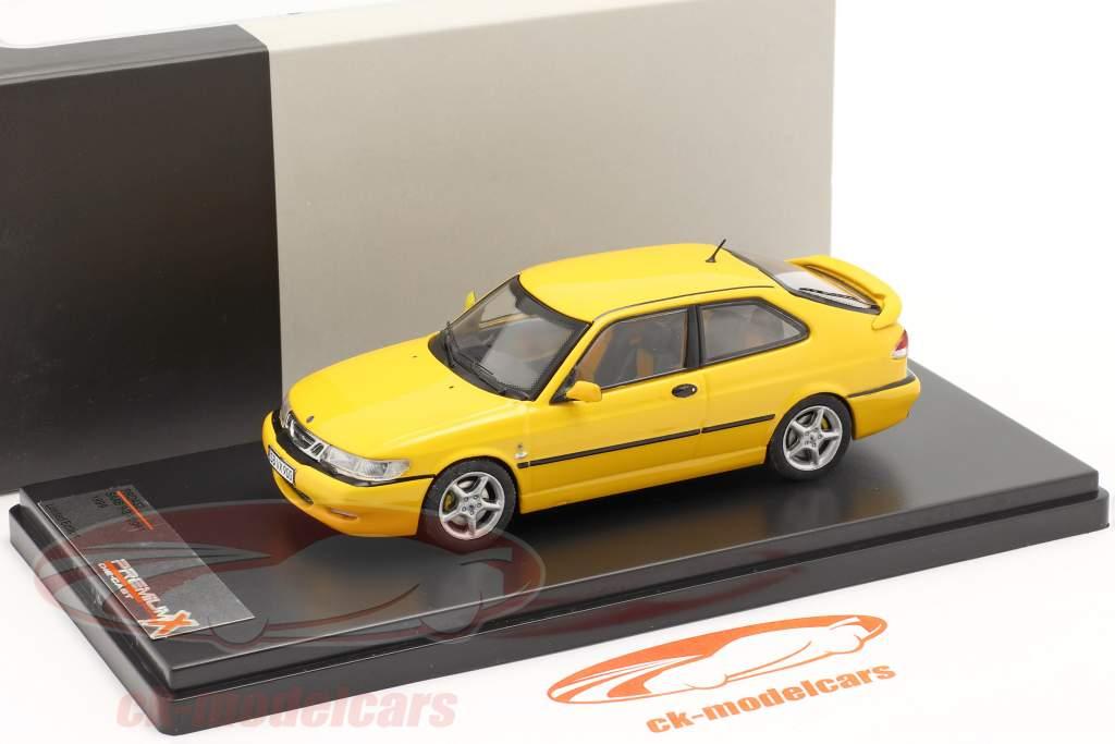 Saab 9-3 Viggen jaar 1999 geel 1:43 Premium X