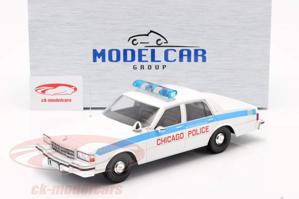 Chevrolet Caprice Chicago Police Department weiß 1:18 Model Car Group