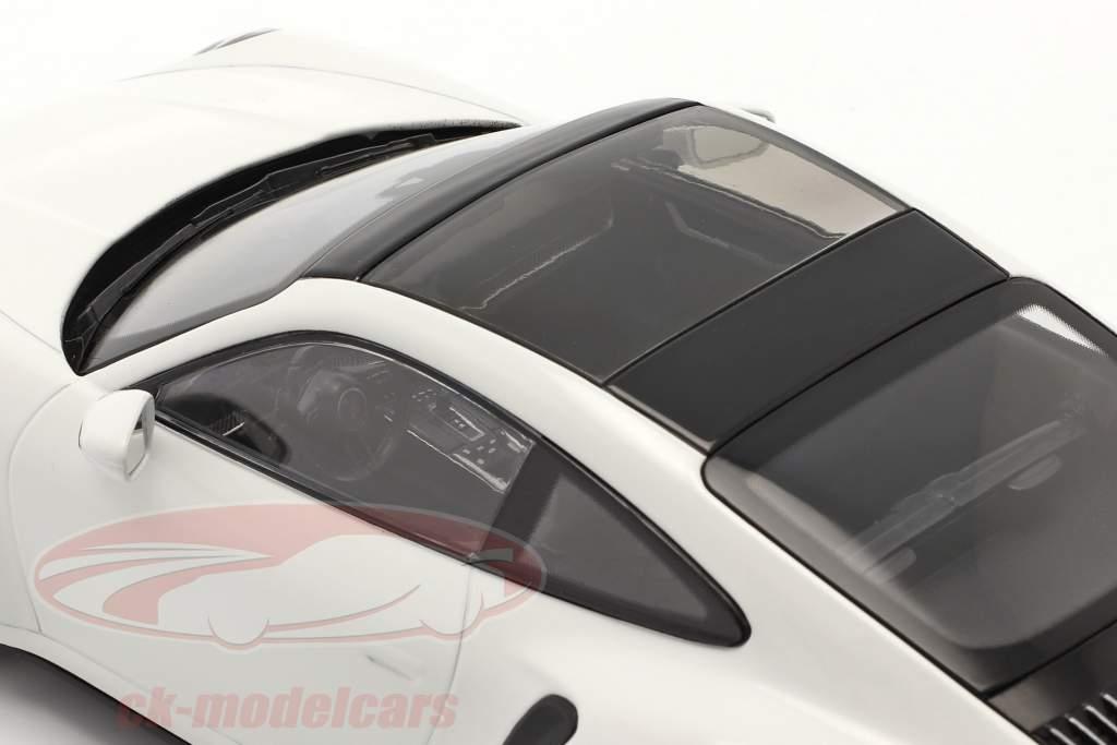 Porsche 911 (992) Turbo S Bouwjaar 2020 Wit 1:18 Minichamps