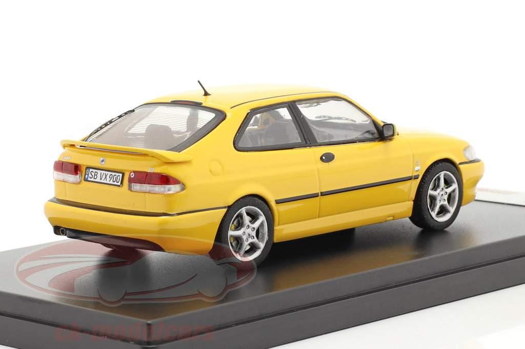 Saab 9-3 Viggen ano 1999 amarelo 1:43 Premium X