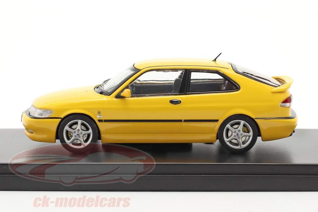 Saab 9-3 Viggen year 1999 yellow 1:43 Premium X
