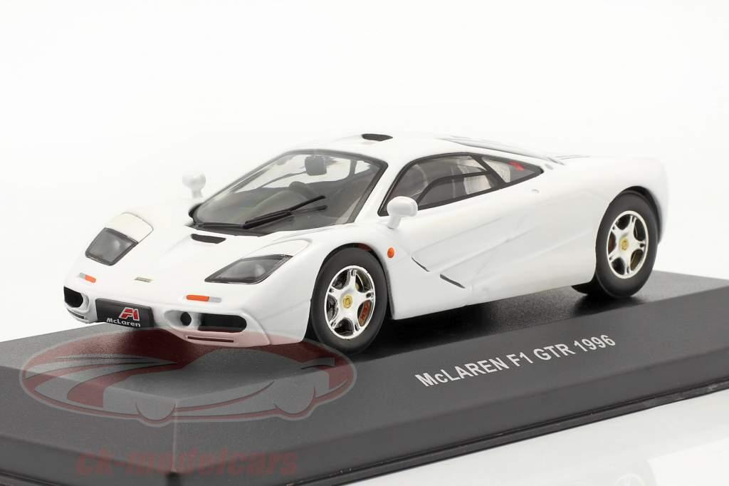 McLaren F1 GTR ano 1996 Branco 1:43 Ixo