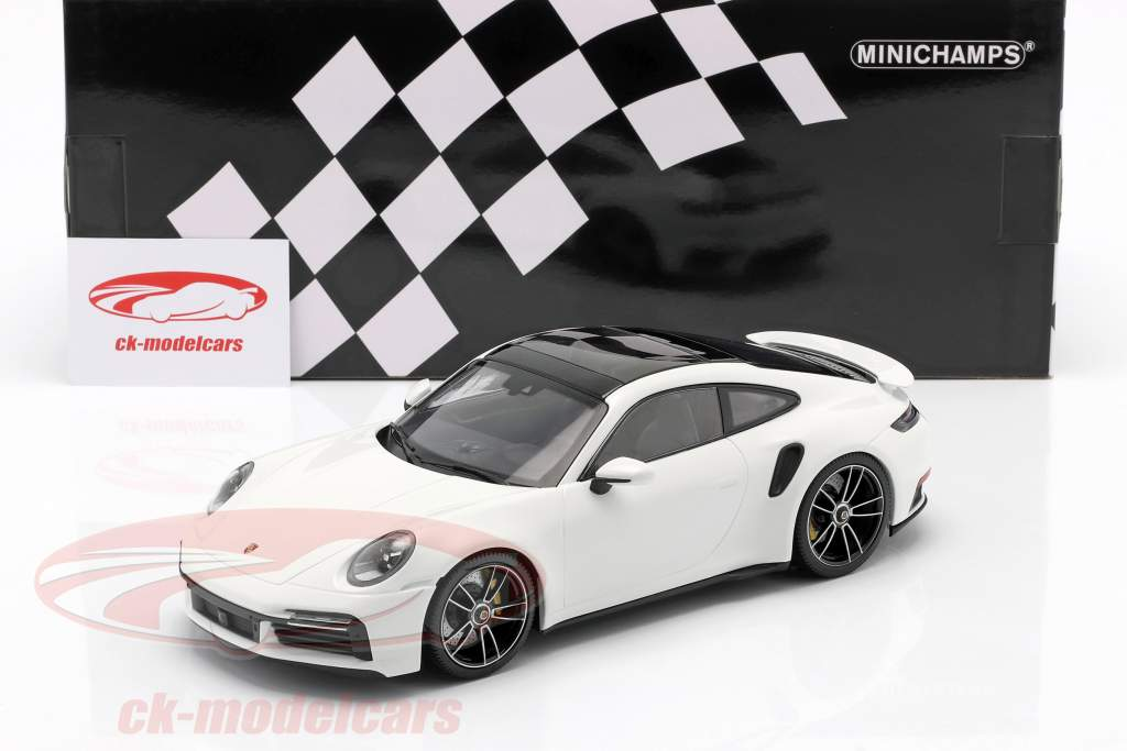 Porsche 911 (992) Turbo S Année de construction 2020 blanc 1:18 Minichamps