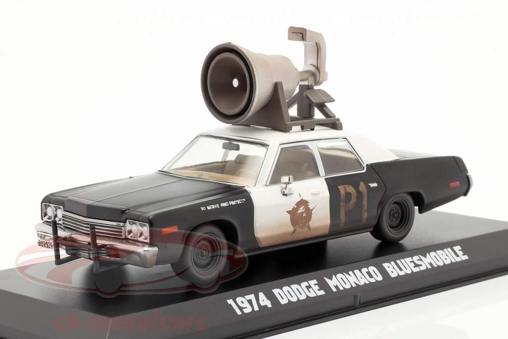 Dodge Monaco Bluesmobile Blues Brothers 1980 schwarz / weiß 1:43 Greenlight